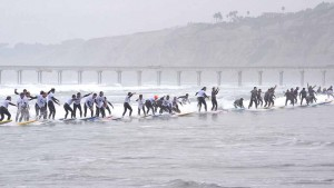 Surfers in 2016 made 18 attempts at La Jolla Shores. Photo by Chris Stone